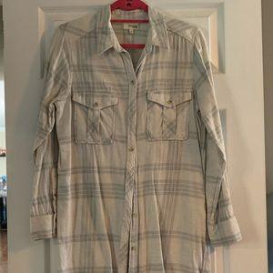 Wilfred Free long plaid shirt